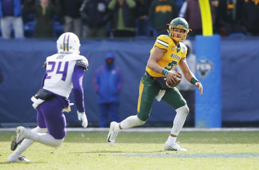 North Dakota State Bison quarterback Trey Lance Mandatory Credit: Tim Heitman-USA TODAY Sports