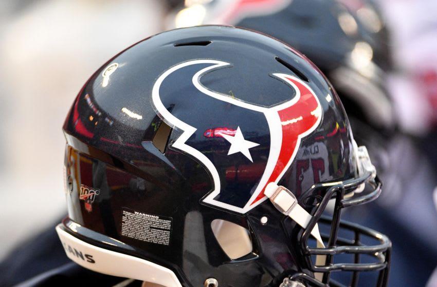 Houston Texans helmet Mandatory Credit: Denny Medley-USA TODAY Sports