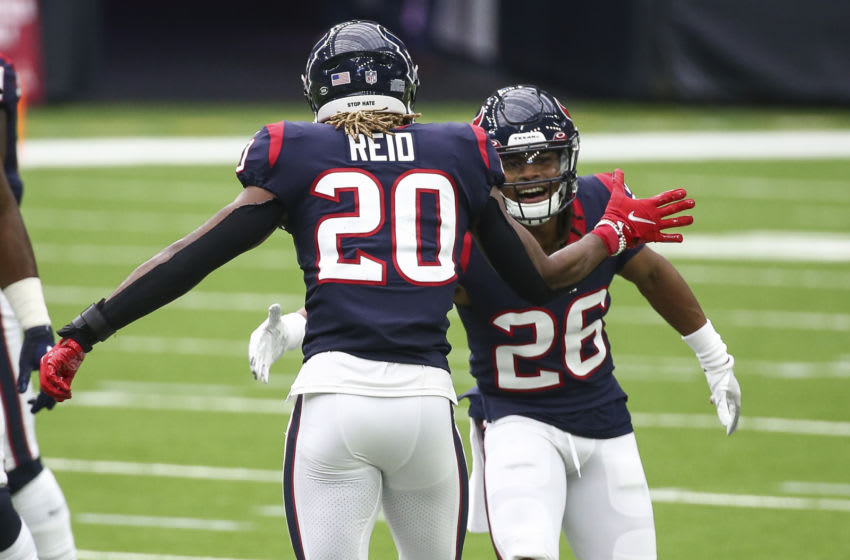 Houston Texans strong safety Justin Reid (20) and cornerback Vernon Hargreaves III (26) Mandatory Credit: Troy Taormina-USA TODAY Sports