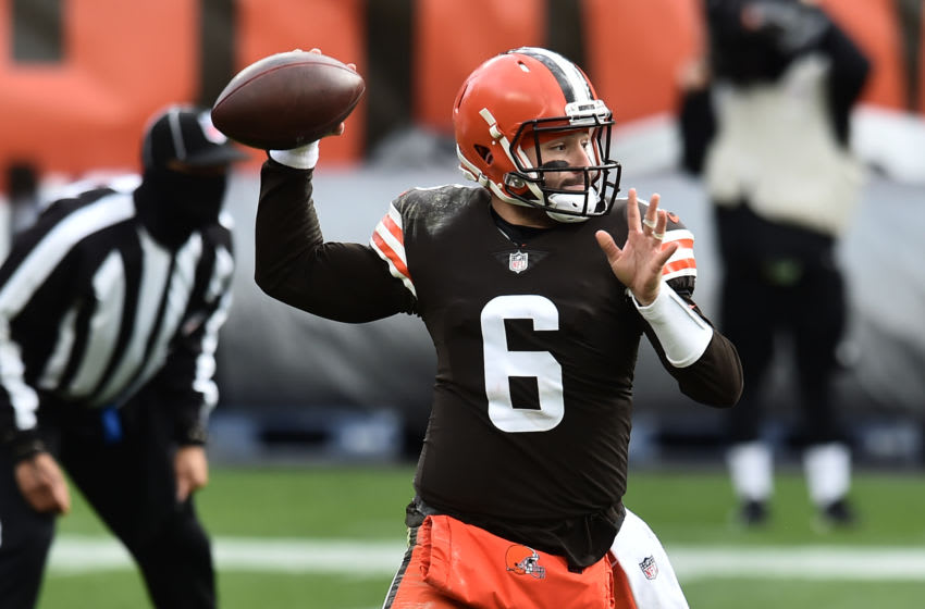 Baker Mayfield (6) Cleveland Browns Mandatory Credit: Ken Blaze-USA TODAY Sports