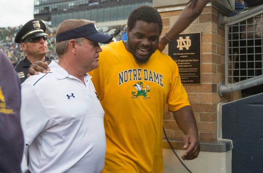 Louis Nix III visits with Notre Dame after getting drafted by the Houston Texans. 5fd400fb1bf95 Image
