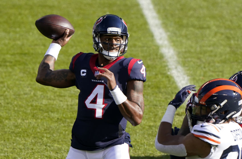 Houston Texans quarterback Deshaun Watson (4) Mandatory Credit: Mike Dinovo-USA TODAY Sports