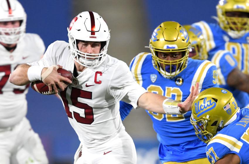 Stanford Cardinal quarterback Davis Mills (15) Mandatory Credit: Jayne Kamin-Oncea-USA TODAY Sports