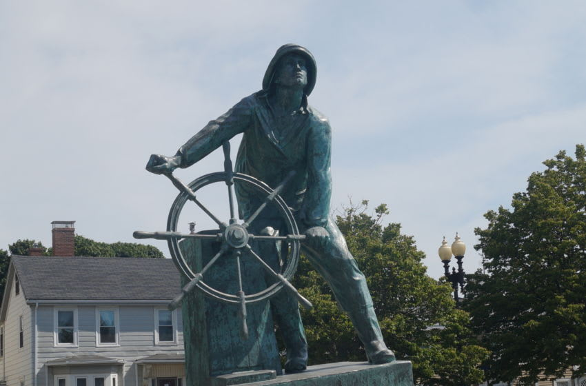 Fisherman's Memorial sits on the shores of Gloucester Harbor and honors those who have lost their lives to the sea.