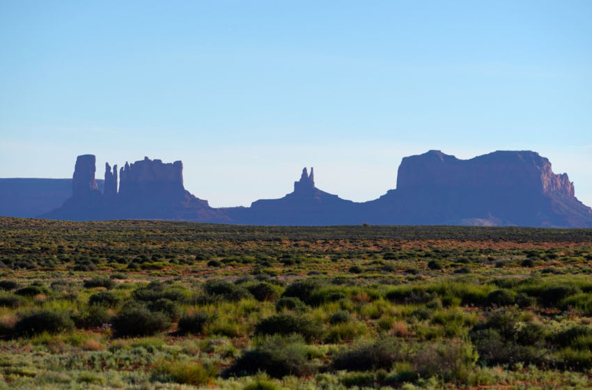 OLJATO-MONUMENT VALLEY, UT - JUNE 12:This is a picture of the north end of Monument Valley Navajo Tribal Park on June 12, 2019 outside Oljato-Monument Valley, Utah. Monument Valley has recently been rated one of the best road trips in the United States. (Photo by George Frey/Getty Images)