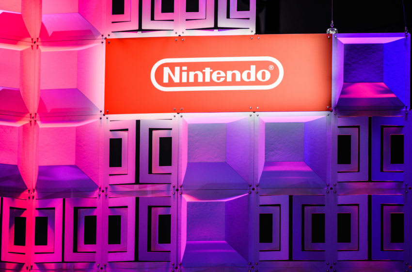 COLOGNE, GERMANY - AUGUST 20: Logo of Nintendo is seen during the press day at the 2019 Gamescom gaming trade fair on August 20, 2019 in Cologne, Germany. Gamescom 2019, the biggest video gaming trade fair in the world, will be open to the public from August 21-24. (Photo by Lukas Schulze/Getty Images)