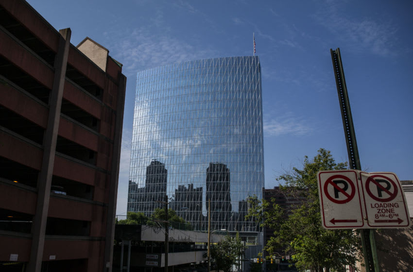 RICHMOND, VA - JULY 06: The Dominion Energy headquarters is pictured on July 6, 2020 in Richmond, Virginia. Warren Buffetts Berkshire Hathaway acquired the Richmond based power company in a $10 billion deal. (Photo by Zach Gibson/Getty Images)