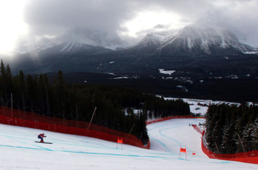 LAKE LOUISE, AB - NOVEMBER 30: Breezy Johnson of USA in action during the Audi FIS Alpine Ski World Cup Women's Downhill Training on November 30, 2017 in Lake Louise, Canada. (Photo by Christophe Pallot/Agence Zoom/Getty Images)