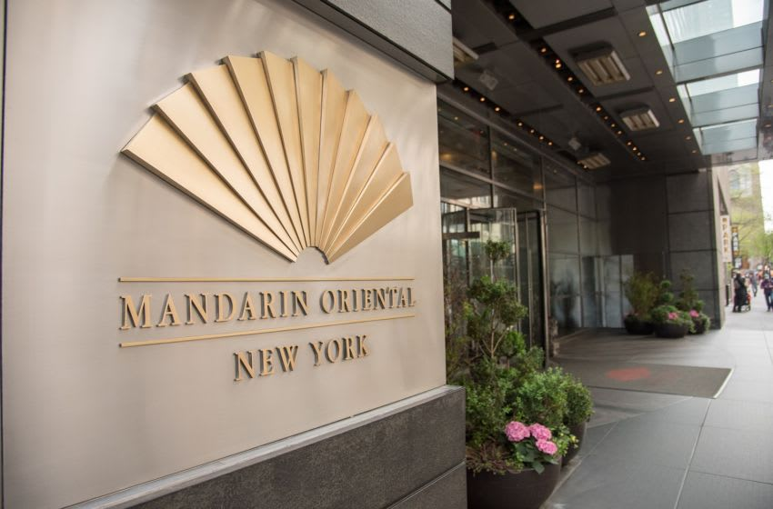 NEW YORK, NY - MAY 01: An exterior view of the Mandarin Oriental, New York on May 1, 2017 in New York City. (Photo by Mike Pont/Getty Images)