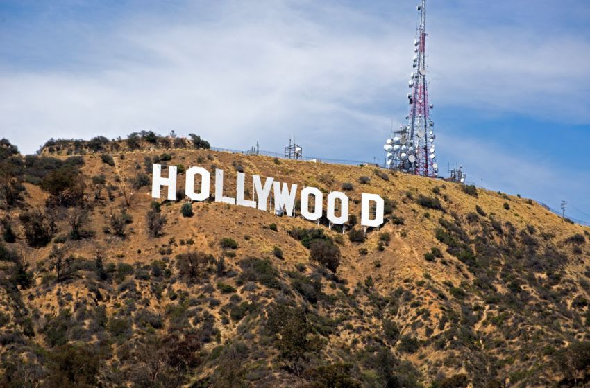 The iconic Hollywood sign sits on Mount Lee and overlooks the Hollywood Hills in Los Angeles. XXX LOS ANGELES VIDEO FILES114.JPG USA CA