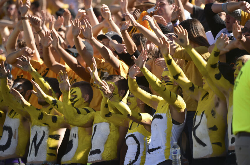 COLUMBIA, MO - SEPTEMBER 22: Missouri Tigers fans cheer for their team against Georgia Bulldogs at Memorial Stadium on September 22, 2018 in Columbia, Missouri. (Photo by Ed Zurga/Getty Images)