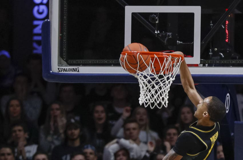 CINCINNATI, OH - NOVEMBER 12: Xavier Pinson #1 of the Missouri Tigers goes up for a dunk during the second half against the Xavier Musketeers at Cintas Center on November 12, 2019 in Cincinnati, Ohio. (Photo by Michael Hickey/Getty Images)