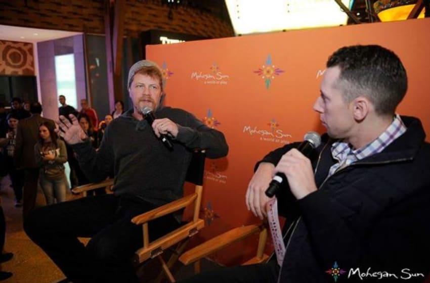Michael Cudlitz and Gavin from Kiss 957 radio. Mohegan Sun Casino