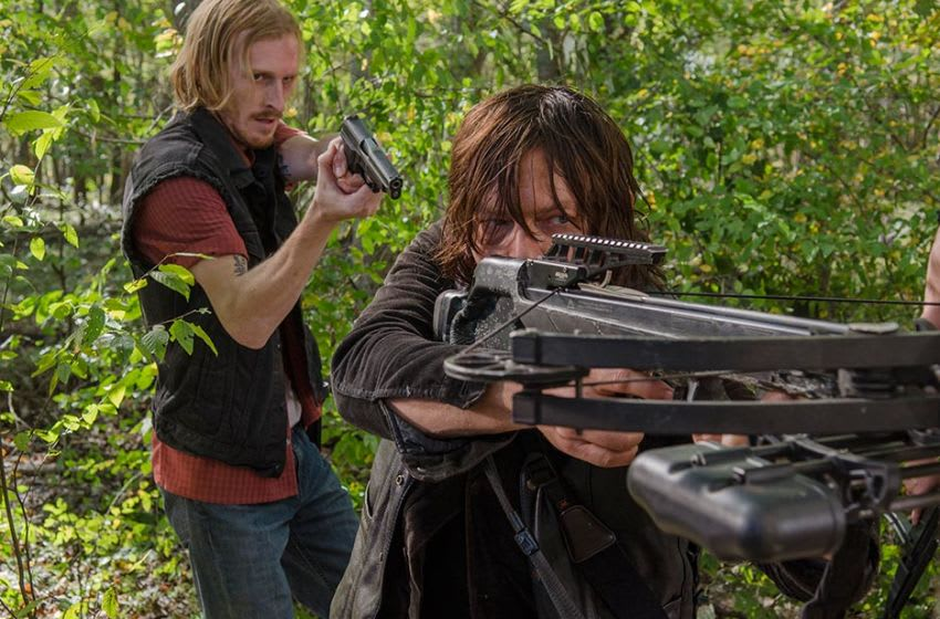 D (Austin Amelio) and Daryl Dixon (Norman Reedus) in Episode 15 Photo Credit: Gene Page/AMC, The Walking Dead