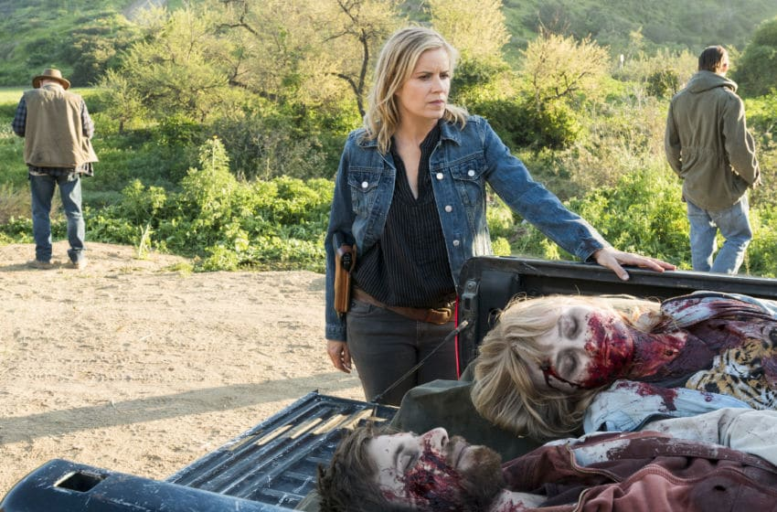 Kim Dickens as Madison Clark, Rae Gray as Gretchen Trimbol - Fear the Walking Dead _ Season 3, Episode 6 - Photo Credit: Richard Foreman, Jr/AMC