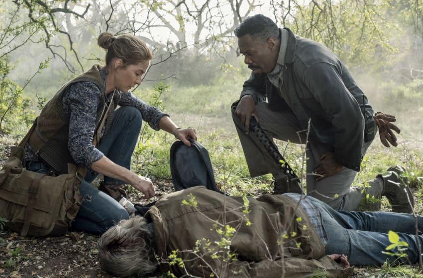 Jenna Elfman as June, Colman Domingo as Victor Strand - Fear the Walking Dead _ Season 5, Episode 9 - Photo Credit: Van Redin/AMC