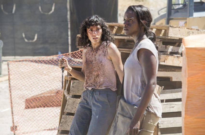 Kelsey Scott as Sierra, Mishel Prada as Gabi - Fear the Walking Dead _ Season 2, Passage - Photo Credit: Ron Jaffe/AMC