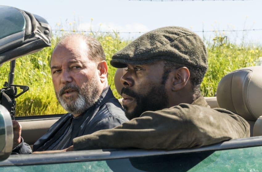Colman Domingo as Victor Strand, Ruben Blades as Daniel Salazar - Fear the Walking Dead _ Season 3, Episode 5 - Photo Credit: Richard Foreman, Jr/AMC