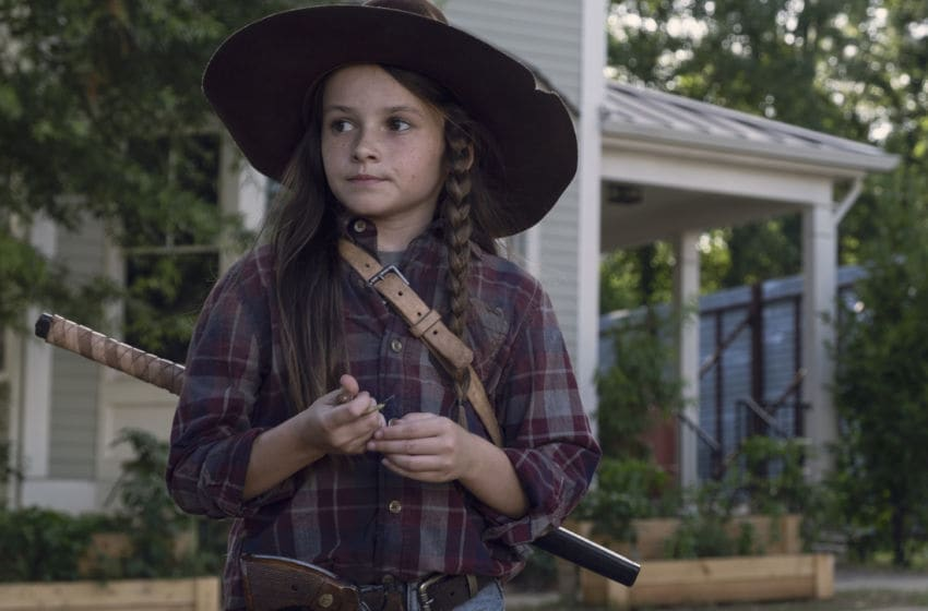 Cailey Fleming as Judith Grimes- The Walking Dead _ Season 9, Episode 6 - Photo Credit: Gene Page/AMC