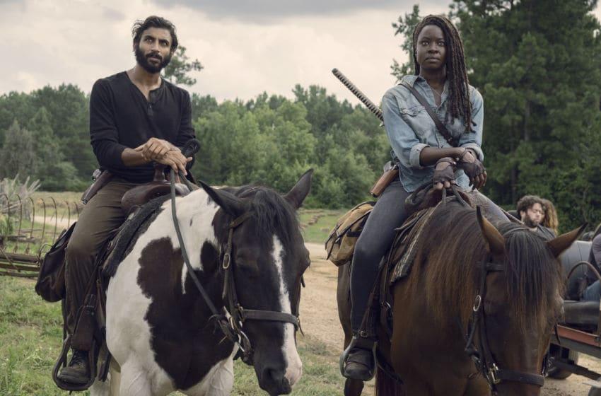 Avi Nash as Siddiq, Danai Gurira as Michonne- The Walking Dead _ Season 9, Episode 8 - Photo Credit: Gene Page/AMC