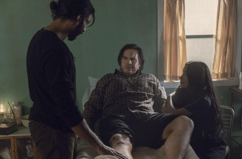 Avi Nash as Siddiq, Josh McDermitt as Dr. Eugene Porter, Christian Serratos as Rosita Espinosa- The Walking Dead _ Season 9, Episode 9 - Photo Credit: Jackson Lee Davis/AMC