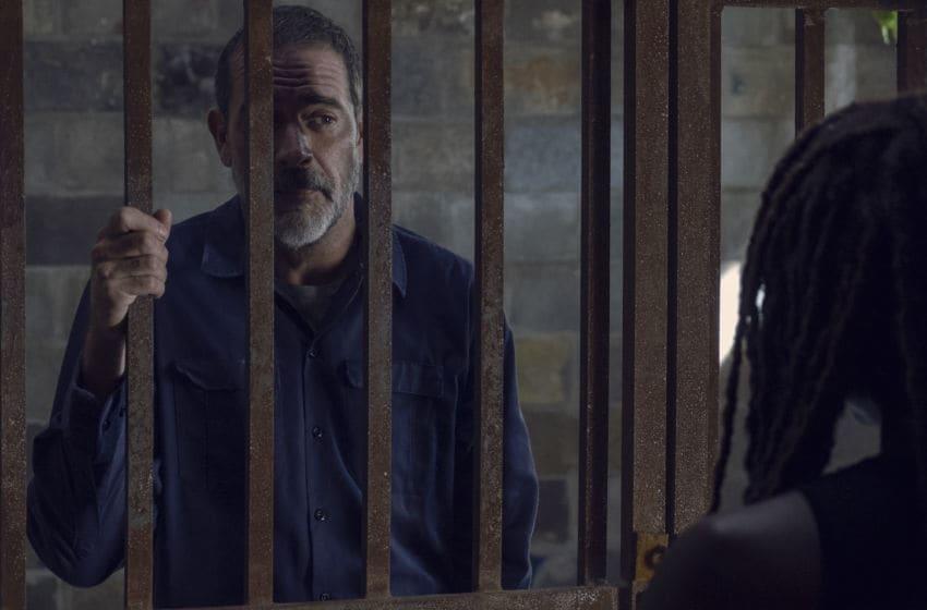 Jeffrey Dean Morgan as Negan, Danai Gurira as Michonne- The Walking Dead _ Season 9, Episode 12 - Photo Credit: Gene Page/AMC