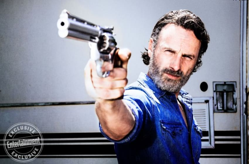 Andrew Lincoln as Rick Grimes - The Walking Dead Season 8 - Photo Credit: Alan Clark, AMC, and Entertainment Weekly