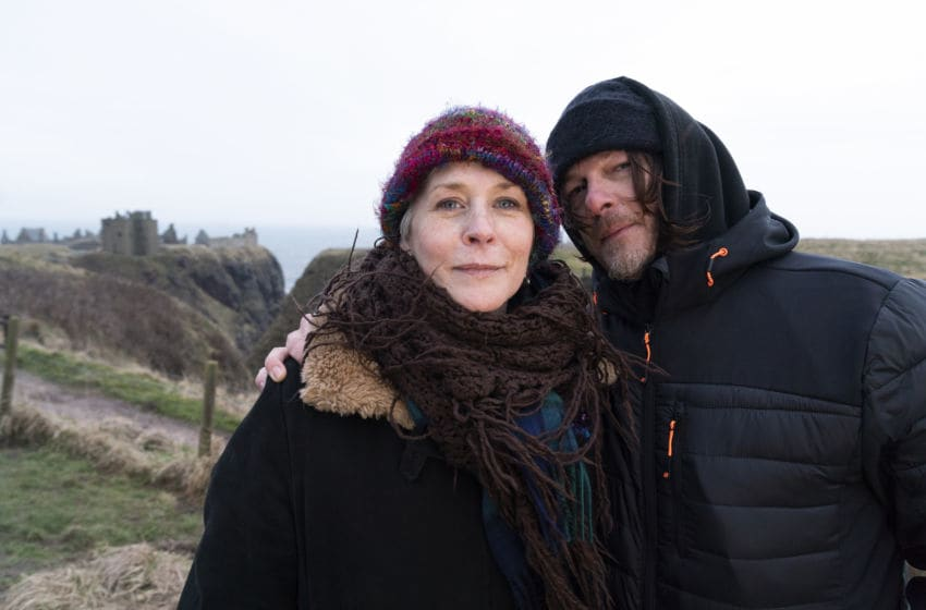 Norman Reedus, Melissa McBride- Ride with Norman Reedus _ Season 3, Episode 3 - Photo Credit: Aidan Monaghan/AMC