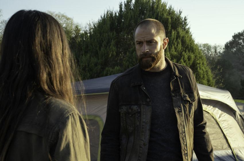 Alexa Nisenson as Charlie, Cory Hart as Rollie - Fear the Walking Dead _ Season 6, Episode 10 - Photo Credit: Ryan Green/AMC