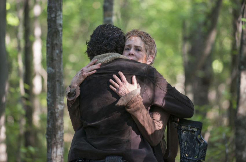 Andrew Lincoln as Rick Grimes and Melissa McBride as Carol Peletier - The Walking Dead _ Season 5, Episode 1 - Photo Credit: Gene Page/AMC