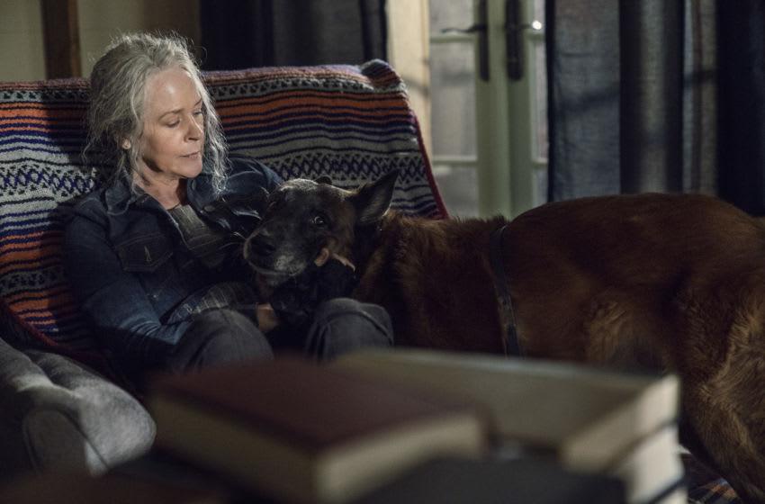 Melissa McBride as Carol Peletier, Dog - The Walking Dead _ Season 10, Episode 21 - Photo Credit: Eli Ade/AMC