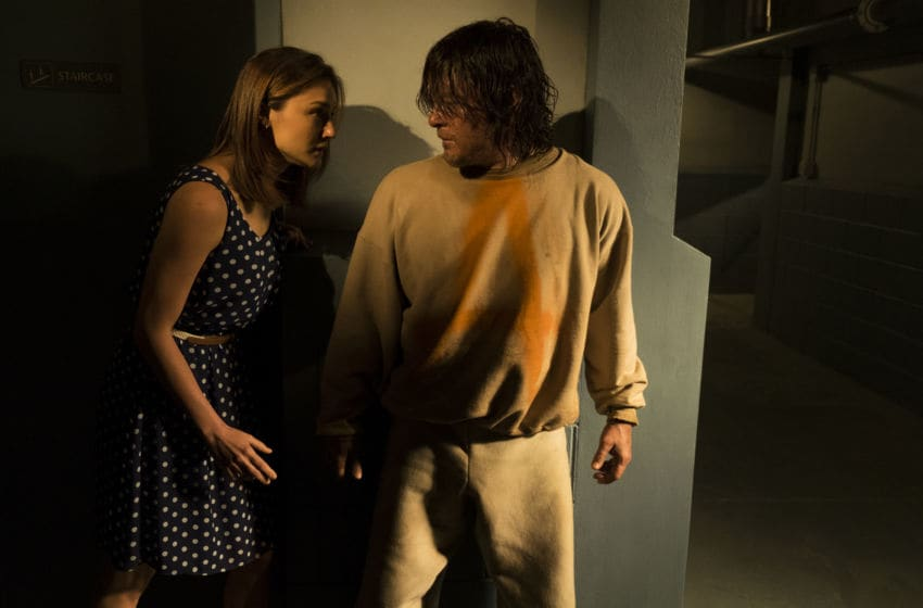 Norman Reedus as Daryl Dixon, Christine Evangelista as Sherry - The Walking Dead _ Season 7, Episode 3 - Photo Credit: Gene Page/AMC