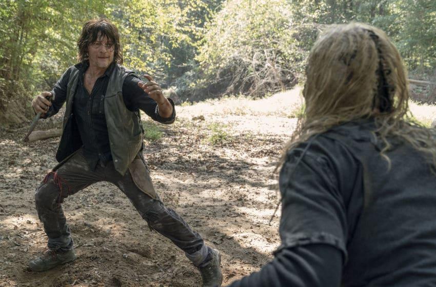 Norman Reedus as Daryl Dixon, Samantha Morton as Alpha; group - The Walking Dead _ Season 10, Episode 10 - Photo Credit: Jace Downs/AMC