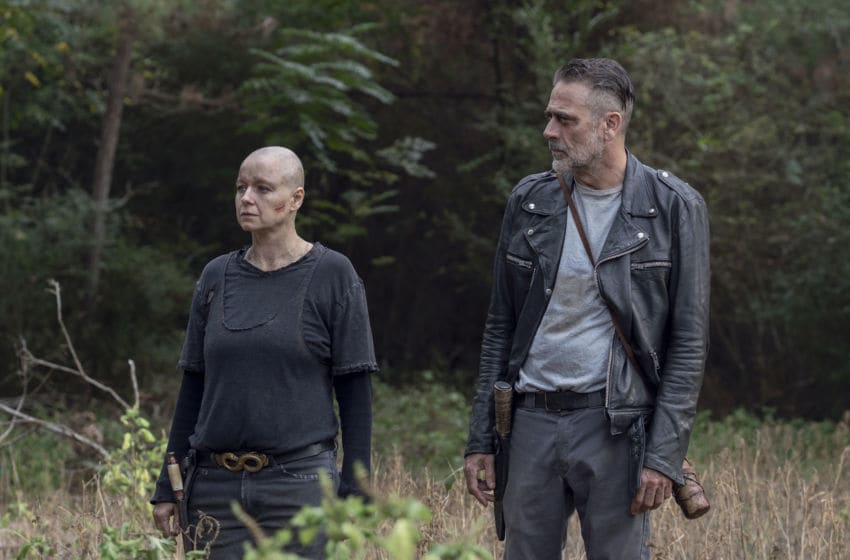 Jeffrey Dean Morgan as Negan, Samantha Morton as Alpha - The Walking Dead _ Season 10, Episode 12 - Photo Credit: Jace Downs/AMC