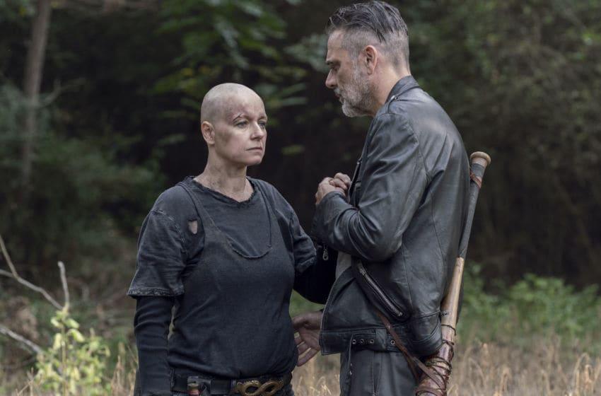 Jeffrey Dean Morgan as Negan, Samantha Morton as Alpha - The Walking Dead _ Season 10, Episode 12 - Photo Credit: Jace Downs/AMC