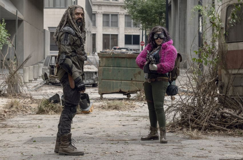 Khary Payton as Ezekiel, Paola Lazaro as Princess - The Walking Dead _ Season 10, Episode 15 - Photo Credit: Jace Downs/AMC
