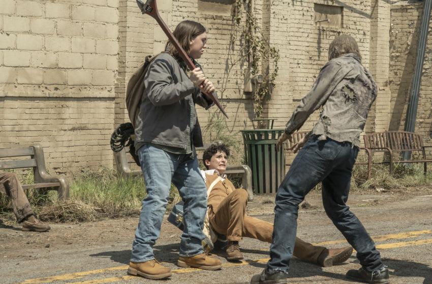 BTS, Nicolas Cantu as Elton, Hal Cumpston as Silas - The Walking Dead: World Beyond _ Season 1, Episode 2 - Photo Credit: Jojo Whilden/AMC