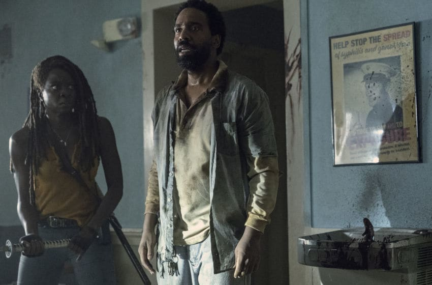 Danai Gurira as Michonne, Kevin Carroll as Virgil - The Walking Dead _ Season 10, Episode 13 - Photo Credit: Eliza Morse/AMC