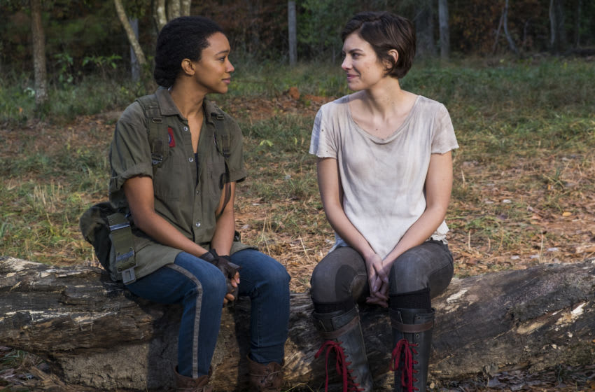 Lauren Cohan as Maggie Greene, Sonequa Martin-Green as Sasha Williams - The Walking Dead _ Season 7, Episode 16 - Photo Credit: Gene Page/AMC