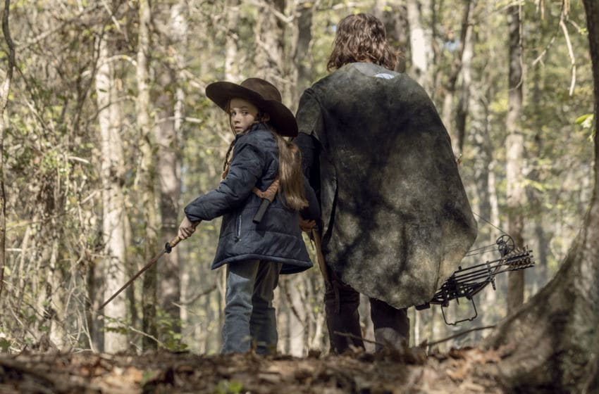 Cailey Fleming as Judith Grimes, Norman Reedus as Daryl Dixon-The Walking Dead_Seaon 10, Episode 15-Photo Credit:Jackson Lee Davis/AMC