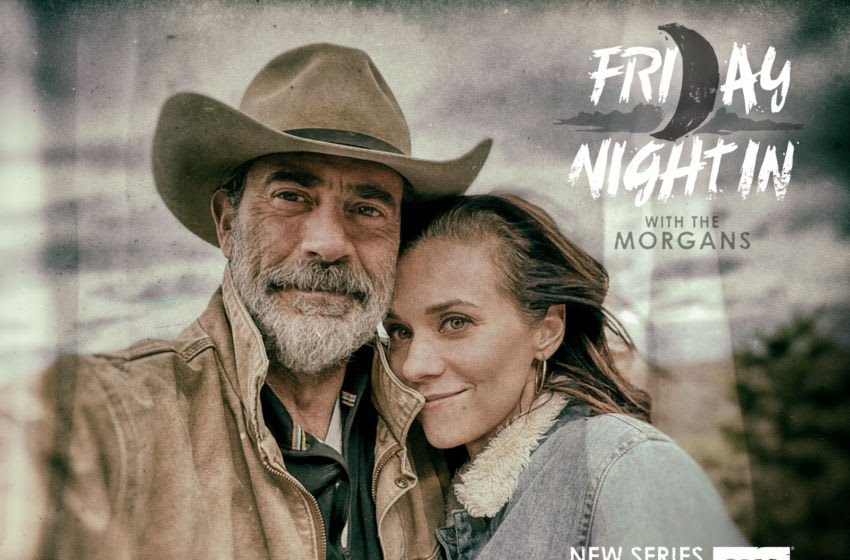 Jeffrey Dean Morgan and wife Hilarie Burton at home in New York State April 2020 - Friday Night In with the Morgans _ Season 1 - Photo Credit: Courtesy The Morgans/AMC