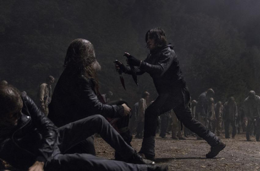 Norman Reedus as Daryl Dixon, Jeffrey Dean Morgan as Negan, Ryan Hurst as Beta- The Walking Dead _ Season 10, Episode 16 - Photo Credit: Jackson Lee Davis/AMC
