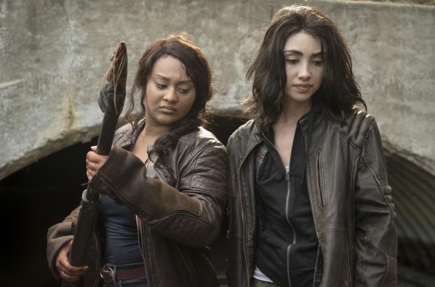 Alexa Mansour as Hope, Aliyah Royale as Iris - The Walking Dead: World Beyond Season 1, Episode 2 - Photo Credit: Jojo Whilden/AMC