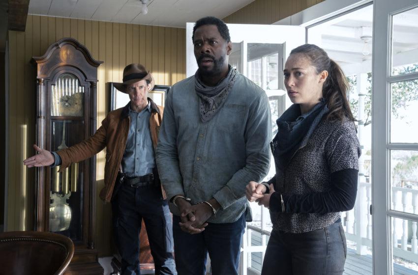 Colman Domingo as Victor Strand, Alycia Debnam-Carey as Alicia Clark, Craig Nigh as Hill - Fear the Walking Dead _ Season 6, Episode 2 - Photo Credit: Ryan Green/AMC