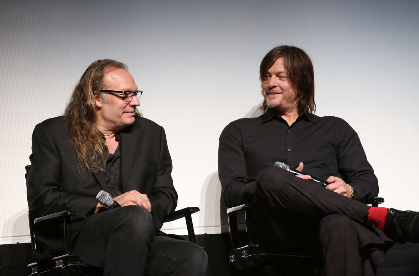 LOS ANGELES, CALIFORNIA - APRIL 11: Executive producer/director Greg Nicotero and actor Norman Reedus attend 'The Walking Dead' For Your Consideration Event at The Montalban Theater on April 11, 2016 in Los Angeles, California. (Photo by Jesse Grant/Getty Images for AMC)