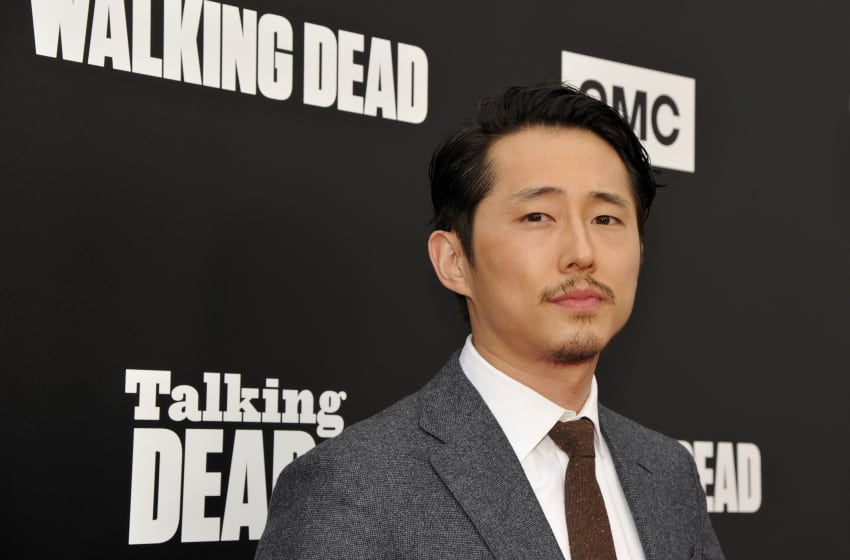 HOLLYWOOD, CA - OCTOBER 23: Actor Steven Yeun attends AMC presents 'Talking Dead Live' for the premiere of 'The Walking Dead' at Hollywood Forever on October 23, 2016 in Hollywood, California. (Photo by John Sciulli/Getty Images for AMC)