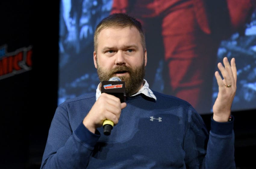 NEW YORK, NY - OCTOBER 06: Robert Kirkman speaks onstage during The Walking Dead panel during New York Comic Con at The Hulu Theater at Madison Square Garden on October 6, 2018 in New York City. (Photo by Andrew Toth/Getty Images for New York Comic Con)