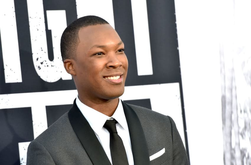 LOS ANGELES, CA - AUGUST 10: Actor Corey Hawkins arrives at the premiere of Universal Pictures and Legendary Pictures'