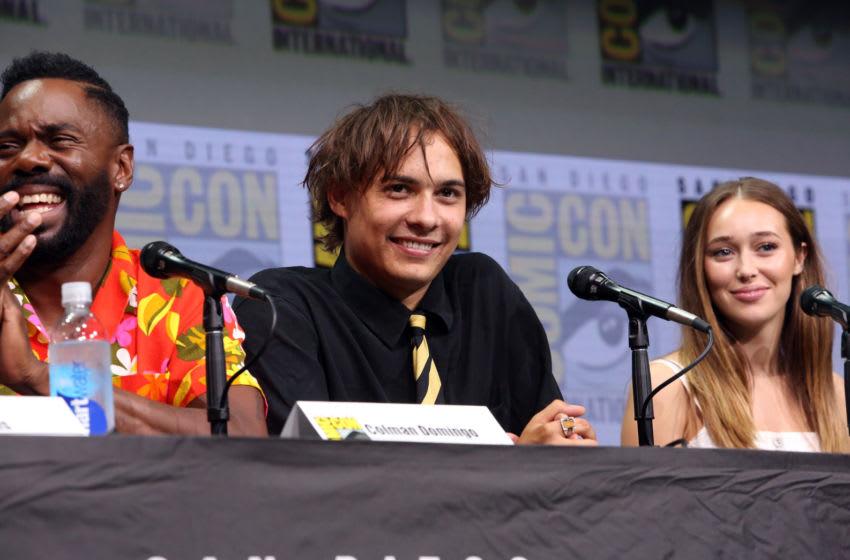 SAN DIEGO, CA - JULY 21: (L-R) Actors Colman Domingo, Frank Dillane and Alycia Debnam-Carey from