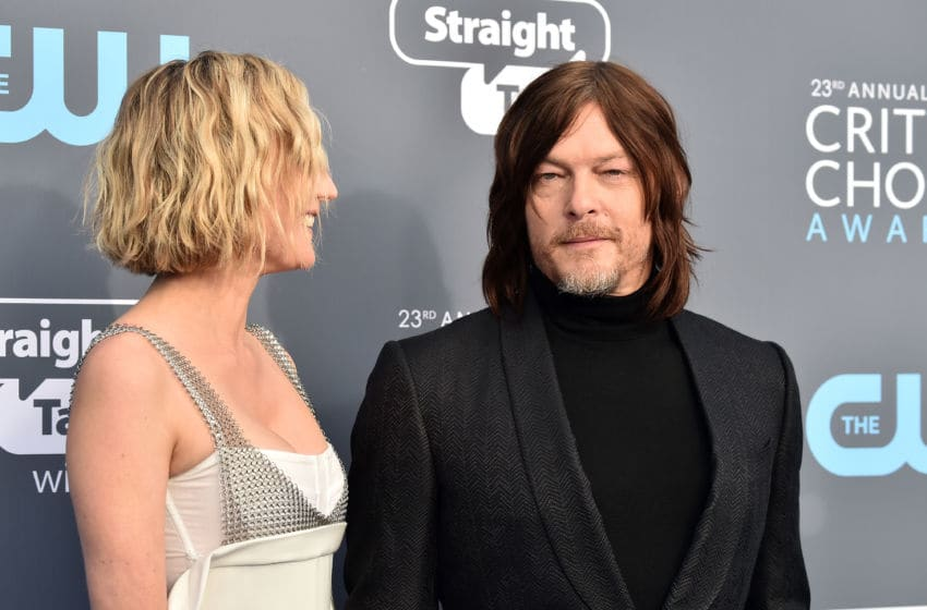 SANTA MONICA, CA - JANUARY 11: Actors Diane Kruger (L) and Norman Reedus attend The 23rd Annual Critics' Choice Awards at Barker Hangar on January 11, 2018 in Santa Monica, California. (Photo by Frazer Harrison/Getty Images)